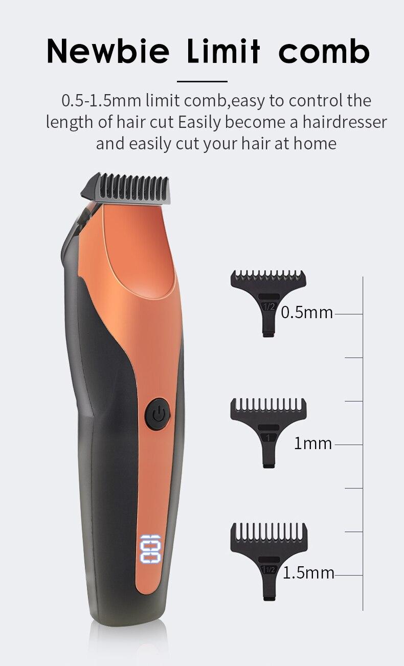 100-240 máquina de cortar cabelo profissional aparador