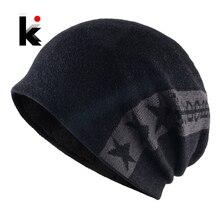 Fashion Skullies Beanie Men Warm Knitted Hat Winter Thick