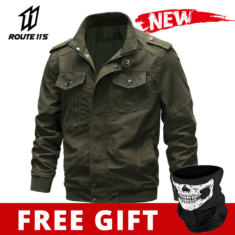 Motorcycle Jacket Retro Riding Jacket Men Bike Moto Windproof Vintage Military Outwear Cycling Jackets Autumn Winter Male New