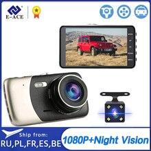 Dashcam Dvr E ACE B07 para coche, Dashcam de 4,0 pulgadas, FHD, 1080P, grabadora de vídeo con cámara de visión trasera, visión nocturna, Dvrs automático