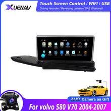 سيارة راديو لاعب نظام أندرويد ل فولفو S80 V70 سيارة 2004 2011 ستيريو الوسائط المتعددة مشغل فيديو سيارة غس نافي شاشة تعمل باللمس