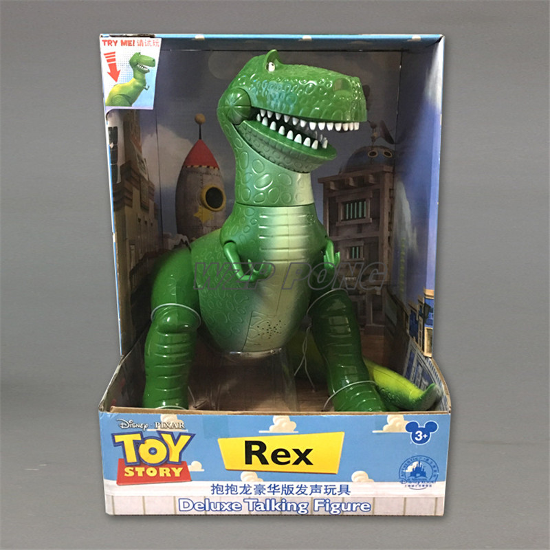 33CM jouet histoire Rex musique Figurine poupées jouets PVC Action Figure à collectionner modèle jouet enfants cadeau