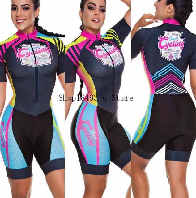 Time profissional triathlon roupa de ciclismo, camiseta de manga curta feminina, macacão, conjunto de ciclismo em gel, 2020 4