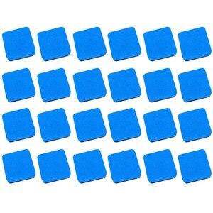Магнитная сухая белая доска 24 шт., Эва квадратной формы, ластики, чистящие средства для досок, стеклоочистители для детей, дома, офиса, школы, ...