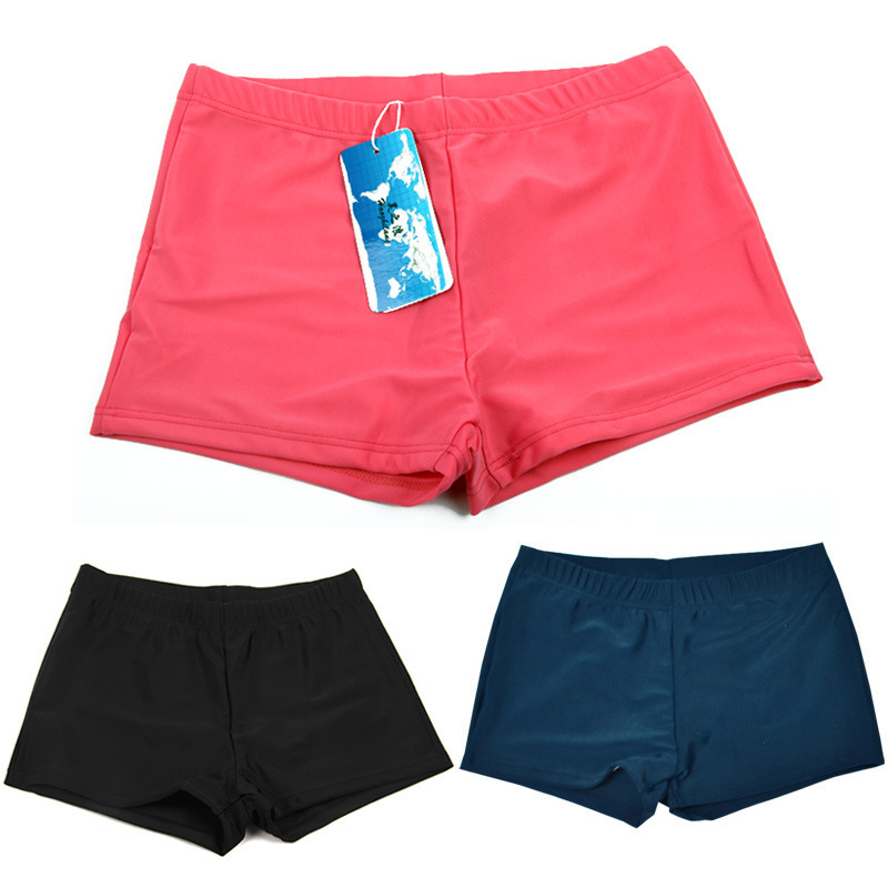 New Style Anti-Exposure Bathing Suit Boxer Women's Conservative Swimming Trunks Swimming Safe Four Corners Boxers