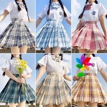 Women Loose pleated skirt anime school uniform school girl outfit sailor moon skirt skirt set jk uniform skirt set