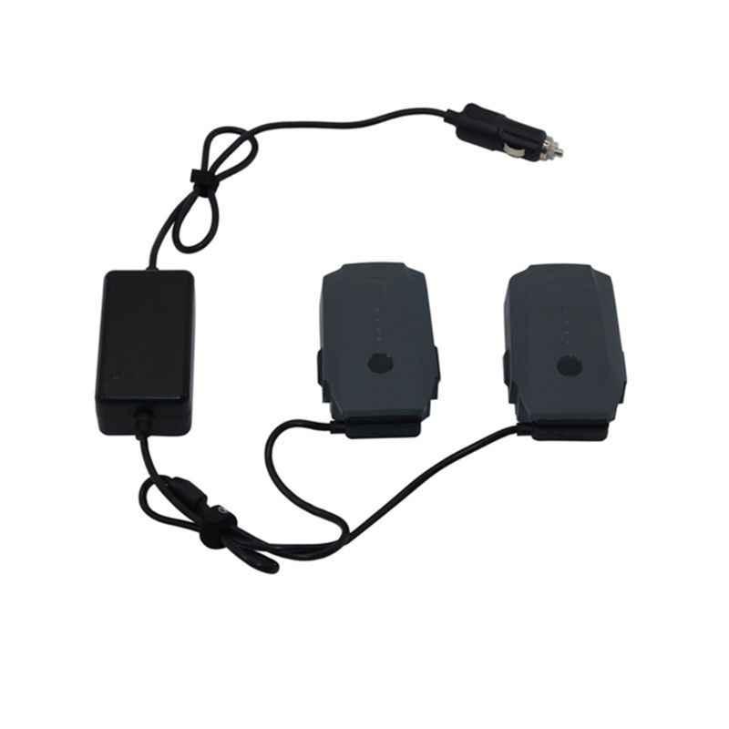 Autolader Voor DJI Mavic 2 Pro Zoom Drone Batterij met 2 Batterij Snel Opladen Reizen Vervoer Outdoor Oplader