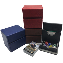 Deck Case TCG Pokemon/yugioh-Card-Box Blue Dices:black for Wine Red Brown 100