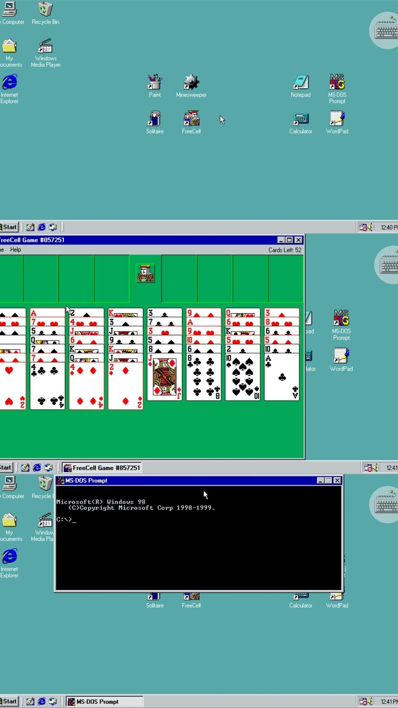 Win 98模拟器(打开手机变电脑 可以玩蜘蛛纸牌扫雷)