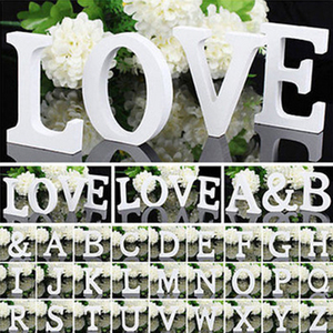 1pc DIY 8cm Freestanding Wood Wooden Letters White Alphabet Wedding Birthday Party Home Decorations Personalised Name Design