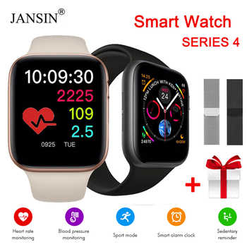 Bluetooth Sport Smart Watch Series 4 Heart Rate Monitor Women Men Smartwatch for iOS iPhone Xiaomi Android Smart Phone + Strap
