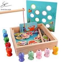 Детские деревянные игрушки, магнитные игры, рыболовная игрушка, игра для детей, 3D Рыба, детские развивающие игрушки для улицы, забавные подарки для мальчиков и девочек