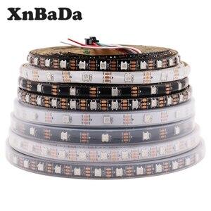 DC5V WS2812B Led Strip 30/60/74/96/144 leds/m WS2812 Black/White PCB IP30/65/67 Smart RGB Led Light 1M 4M 5M