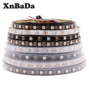 DC5V WS2812B Led Strip 30/60/74/96/144 leds/m WS2812 Black/White PCB IP30/65/67 Smart RGB Led Light 1M 4M 5M 10 x 1m 144 leds m 5050 rgb ws2812b chip black pcb ws2811 ic digital 5v led strip light
