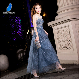Image 3 - DEERVEADO MXN102 Sexy See Through Long Prom Dresses A Line O Neck Beading Occasion Party Dresses Prom Gown Vestido de Festa