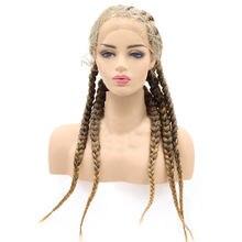 30 дюймов плетеные парики с детскими волосами блондинка Коричневый