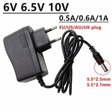 6V 6.5V 10 V 범용 전원 어댑터 공급 6 6.5 10 볼트 0.5A 500mA 0.6A 600mA 1A ac/dc 어댑터 adaptador 5.5mm x 2.5mm 변환기