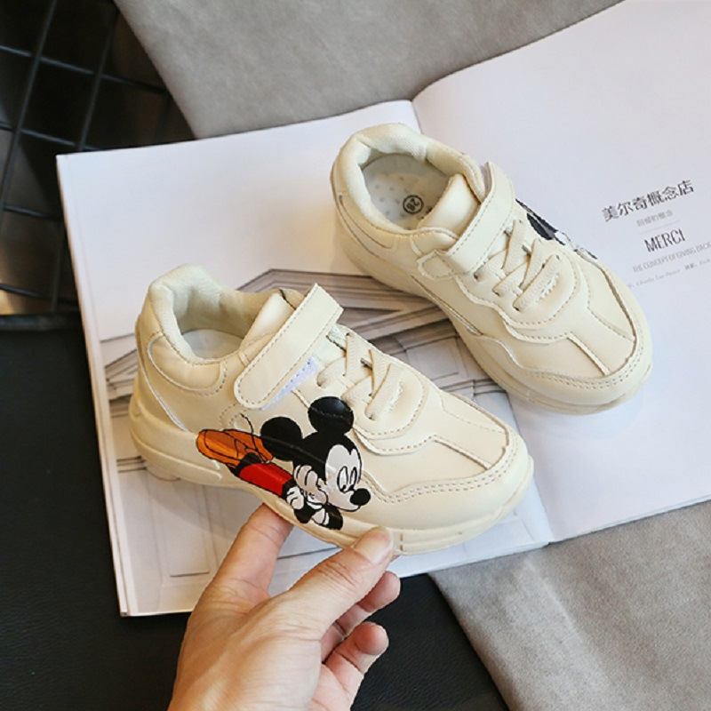 Shoes Kids Boys Sneakers 2020 Fashion Girls Shoes Children Cartoon Pu Sport Breathable Running Sneakers Student Casual Shoe