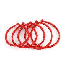 Pulseira de corda de fio vermelho trançado para mulheres homens charme sorte tibetano budista pulseiras amizade pulseiras amante jóias presentes