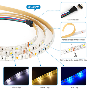 Image 4 - DC 12V Led Strip RGB/RGBW/RGBWW Mini WIFI LED RGB RGBW Controller Magic Home 5050 RGB Tape Flexible Ribbon Smart APP Wireless