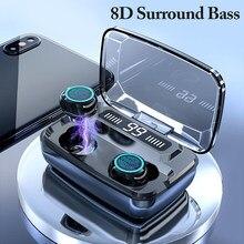 M11 TWS bezprzewodowe słuchawki słuchawki Bluetooth wodoodporne słuchawki sportowe słuchawki douszne dla Huawei Iphone OPPO Xiaomi sportowe słuchawki