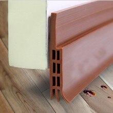 Самоклеящаяся силиконовая Нижняя дверная оконная лента 1 м резиновая уплотнительная полоса уплотнение раздвижных дверей
