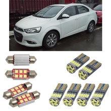 Внутренние светодиодные автомобильные фонари для Chevrolet Aveo, для салона t300 седан чтение купольные лампы для автомобилей Ошибка номерного знака свет 4 шт./лот