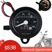 все цены на DC 12V Universal Motorcycle Speedometer Odometer Dual LED Speed Meter Gauge Motorbike Instrument km/h онлайн