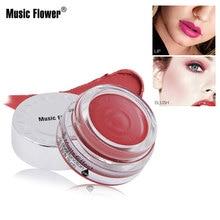 Music Flower Matte Mousse Lips Makeup Lipstick Blush Effect Dual Function & Lip gloss Long lasting Moisturizer