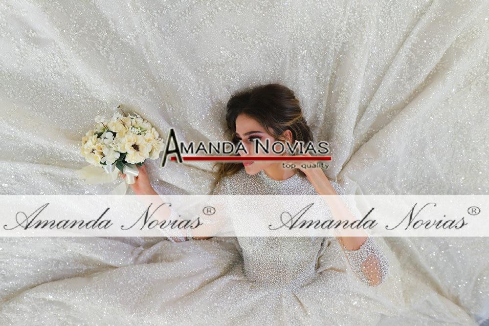 Image 4 - 2020 weeding dress amanda novias full pearls luxury lebanese wedding dressesWedding Dresses   -