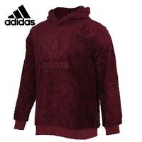 Original Adidas WINTERIZED PO Mens Red Pullover Hoodies Sportswear Sweatshirt DH7079