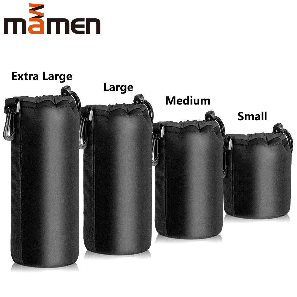 Waterproof Camera Lens Bag Drawstring DSLR Bag With S M L XL Size For Canon Sony DSLR Camera Lens Barrel Case With Hook image