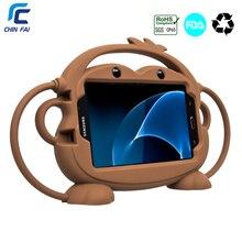 CHINFAI 7 سيليكون حقيبة لهاتف سامسونج جالاكسي تاب 4 T230 طفل ودية للصدمات قابل للغسل الحال بالنسبة تبويب 3 7 SM T110 T280 P3200