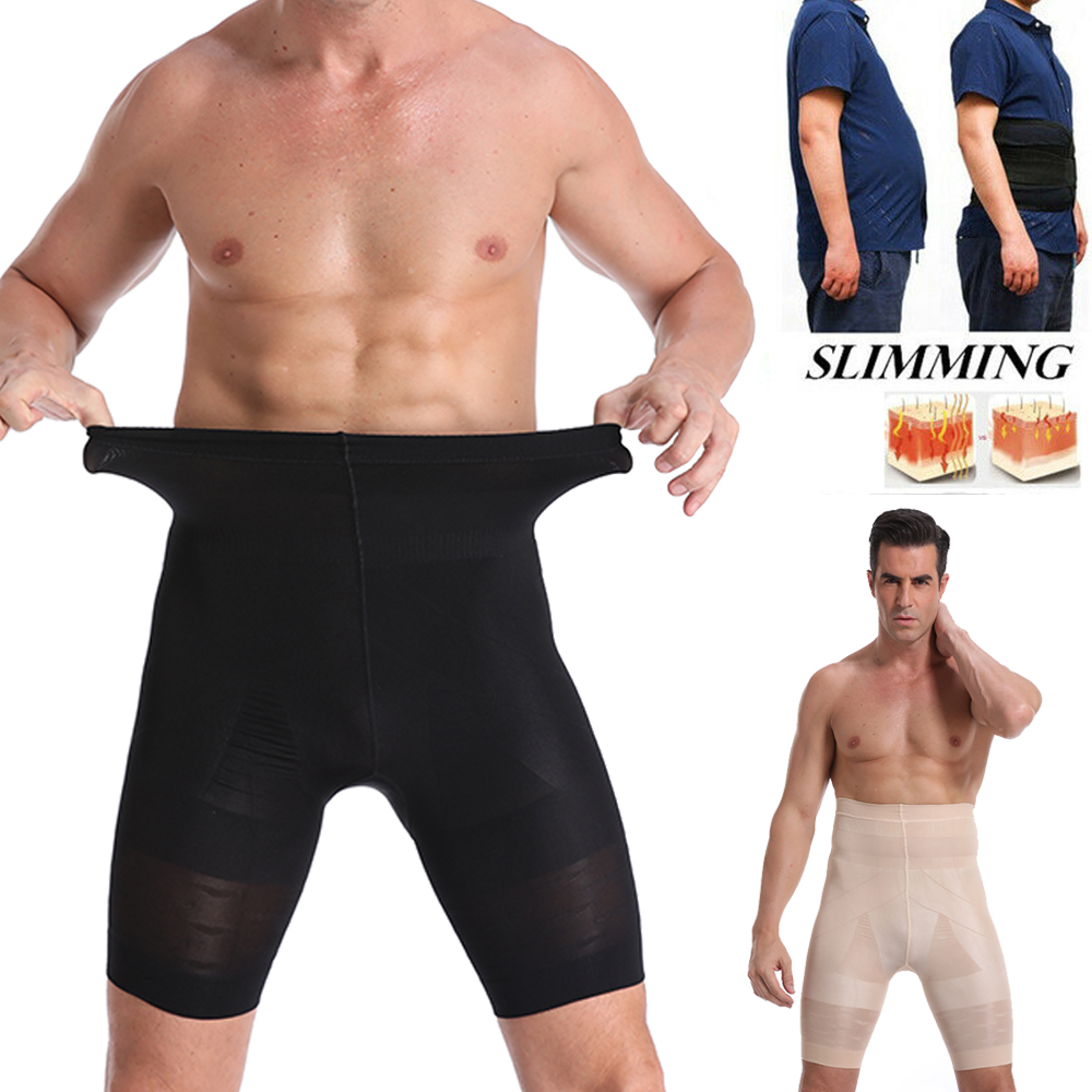 Be-In-Shape Men High Waist Slimming Control Panties Compression Underwear Body Shaper Waist Trainer Abdomen Belly Shaper Pants