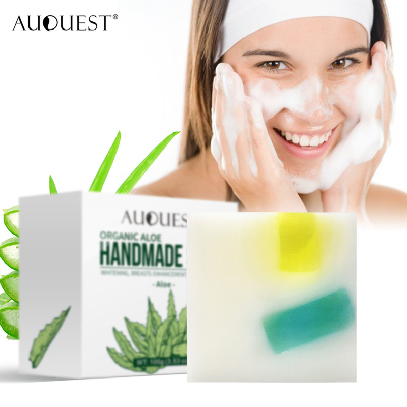 Organic Aloe Vera Soap Face Body Wash Handmade Vegan Face Cleaner Bioactive Pregnancy Women Beauty Product Body Skin Care TSLM1