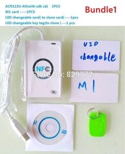 Image 1 - Carte intelligente RFID ACR122U/ACR 122U, lecteur de carte intelligente, avec UID imprimable, logiciel clone S50, carte de contrôle daccès, ISO 14443