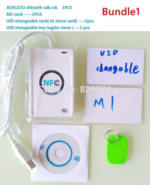 NFC ACR122U RFID smartcard ACR 122U Smart Kartenleser Schriftsteller mit UID beschreibbare klon software S50 Access Control Karte ISO 14443