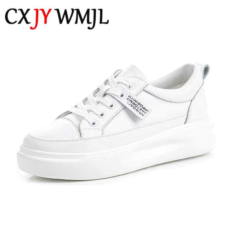 Big Size Women Sneakers Autumn Leather Light White Sneaker Female Platform Vulcanized Shoes Spring Casual Breathable Sports Shoe 5