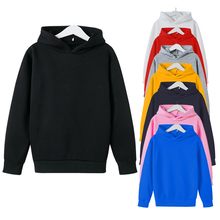 8 colors boy Solid Color Hoodies kid Casual Sweatshirts girl Cotton long sleeve Pullover Fashion Hip hop Tops 2020 Autumn winter