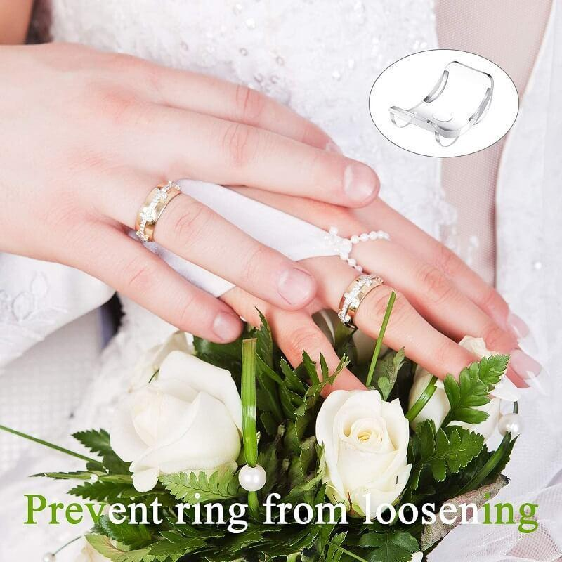 8Pcs//Set Ring Re-sizer 8 Sizes Silicone Invisible Ring Size Reducer Adjuster A++
