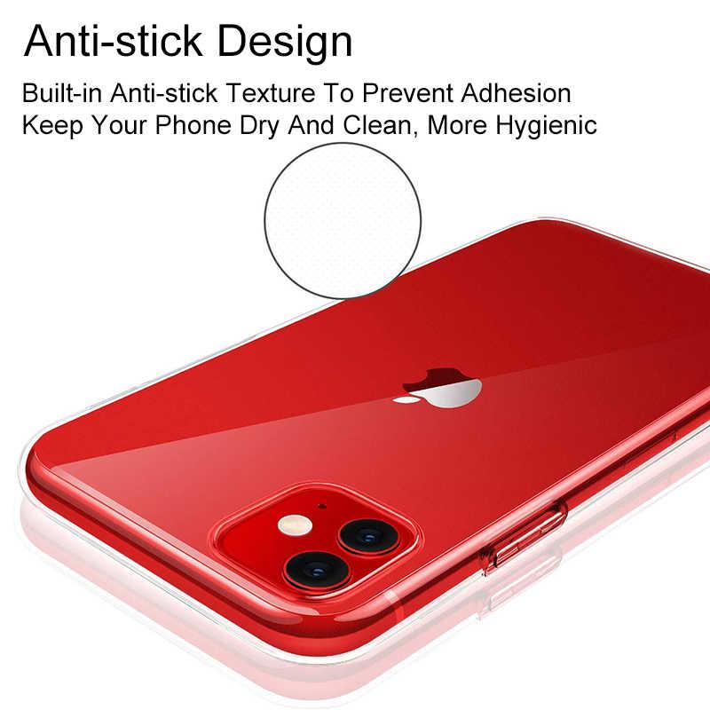 מקורי שקוף סיליקון טלפון מקרה עבור Iphone 11 אולטרה דק ברור חזרה כיסוי טלפון מעטפת עבור Iphone החדש 11 2019 6.1 אינץ