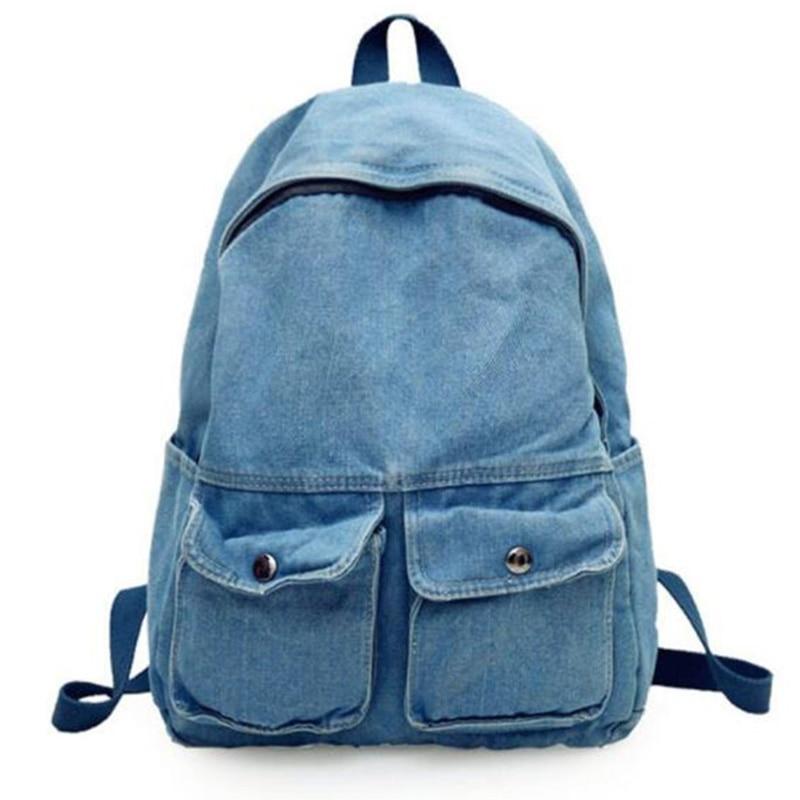 New Street Art Literary Canvas Backpack Minimalist Retro Wild Leisure Korean Schoolbag Bag Travel