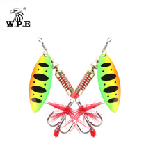 W.P.E New Spinner Lure 3pcs/lot 16 color 6.5g/10g/13.5g Hard Spoon Fishing with Treble Hook Metal Tackle Pesca