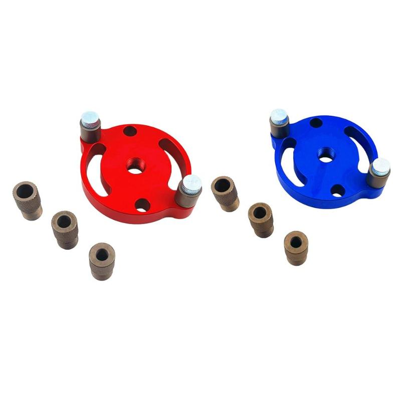 6/8/10mm Hole Anodized Surface Durable And Non-rusting Drilling Hole Jig For Woodworking Drill Positioner Punch Locator