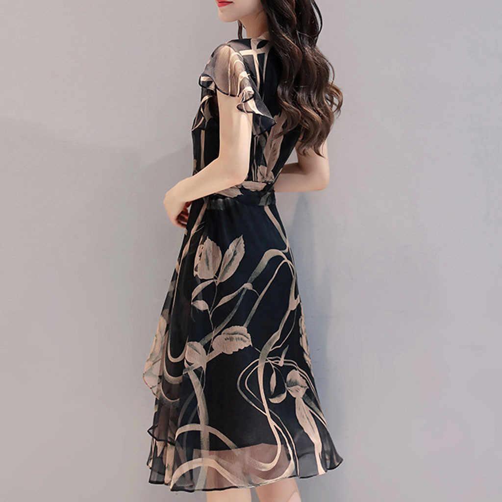 Kısa kollu gömlek elbise 2020 yaz Boho plaj elbiseleri kadınlar Casual çizgili baskı A-line Min parti elbise Vestidos # y30