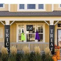 Трюк или лечения баннер Хэллоуина 3 шт./компл. дома или офиса Декор готовы дома знак на дверь снаружи стеновых панелей