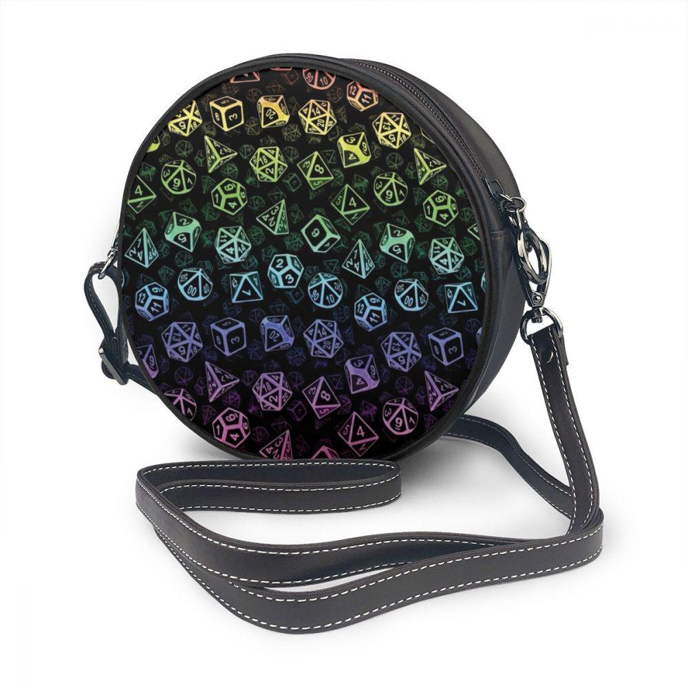 Bag Dice-Set Shoulder-Bag Round Purse Trending Multifunction Pattern High-Quality Teenage