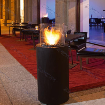 AMT-916-1 Outdoor Round Patio Fireplace Heater  1