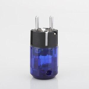 Image 5 - 1 çift yeni yüksek son rodyum kaplama P 037E ab Schuko ab priz + C 037 IEC konnektör tak DIY Hifi elektrik güç kablosu