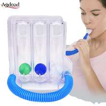 3 ball Breathing Trainer Mask Incentive Spirometer Lung respiratory Exerciser Measurement System Personal Health Care